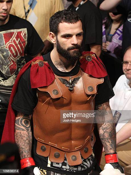 Alessio Sakara enters the arena prior to his fight with Chris Weidman at the UFC Live on Versus 3 event at the KFC Yum Center on March 3 2011 in...