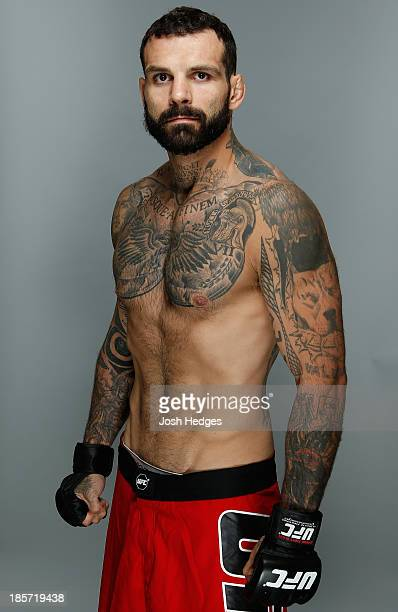 Alessio Sakara poses for a portrait during a UFC photo session on October 24 2013 in Manchester England