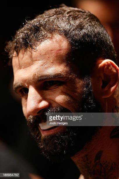Alessio Sakara prepares to enter the Octagon before his middleweight bout against Nicholas Musoke during the UFC Fight Night event at Phones 4 U...