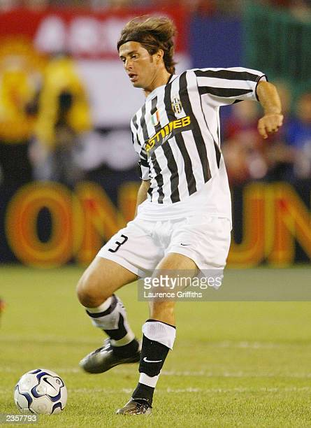 Alessio Tacchinardi of Juventus during the Champions World Series game between Manchester United and Juventus on July 31 at the Giants Stadium in...
