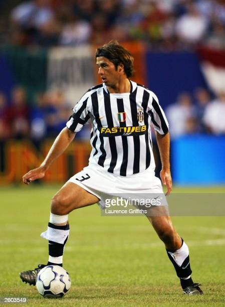 Alessio Tacchinardi of Juventus in action during the Champions World Series game between Manchester United and Juventus on July 31 2003 at the Giants...