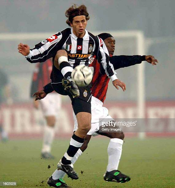 Alessio Tacchinardi of Juventus in action during the Serie A match between Juventus and AC Milan played at the Stadio Delle Alpi Turin Italy on...