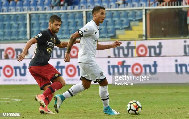 Alessio Vita and Miguel Veloso during the TIM Cup match between Genoa CFC and AC Cesena at Stadio Luigi Ferraris on August 13 2017 in Genoa Italy