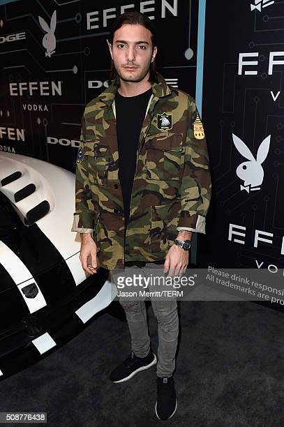 Alesso arrives at The Playboy Party during Super Bowl Weekend which celebrated the future of Playboy and its newly redesigned magazine in a...