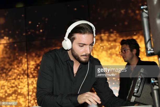 Alesso spins at the Republic Records PreGrammy Party at Cadillac House on January 26 2018 in New York City