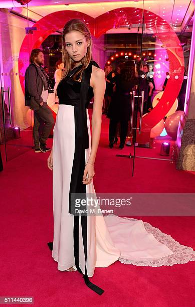 Alesya Kafelnikova at The Naked Heart Foundation's Fabulous Fund Fair in London at Old Billingsgate Market on February 20 2016 in London England