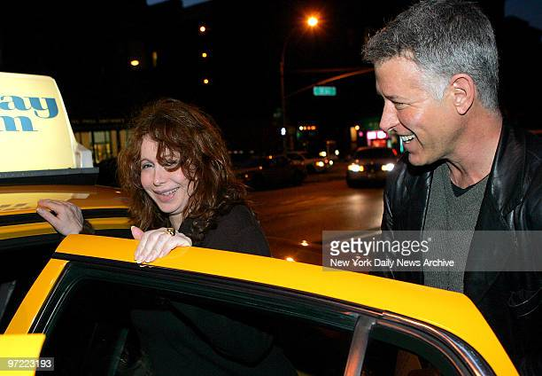 Aleta St James who will be 57 this week gets a taxi outside her upper West Side apartment for a trip to Mount Sinai Hospital to give birth to twins...