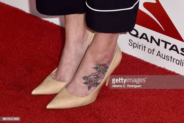 Alethea Jones shoe detail attends the 6th Annual Australians in Film Award Benefit Dinner at NeueHouse Hollywood on October 18 2017 in Los Angeles...