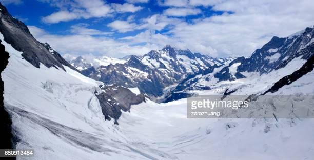 Aletschgletscher Panorama, Alpen, Schweiz