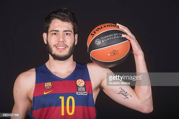 Alex Abrines #10 of FC Barcelona Lassa poses during the 2015/2016 Turkish Airlines Euroleague Basketball Media Day at Palau Blaugrana on September 28...