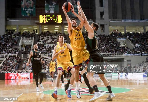 Alex Abrines, #21 of FC Barcelona in action during the 2019/2020 Turkish Airlines EuroLeague Regular Season Round 25 match between Panathinaikos Opap...
