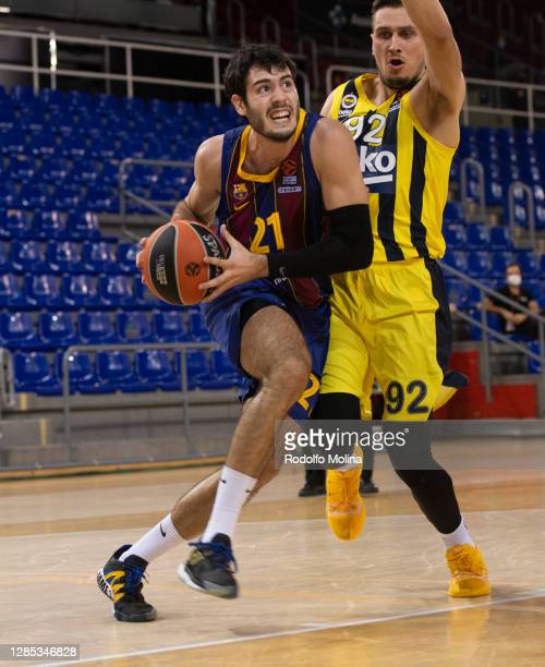 Alex Abrines, #21 of FC Barcelona in action during the 2020/2021 Turkish Airlines EuroLeague Regular Season Round 8 match between FC Barcelona and...