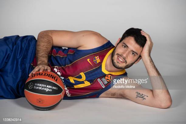 Alex Abrines #21 of FC Barcelona poses during the 2020/2021 Turkish Airlines Euroleague FC Barcelona Media Day on August 27 2020 in Andorra la Vella...
