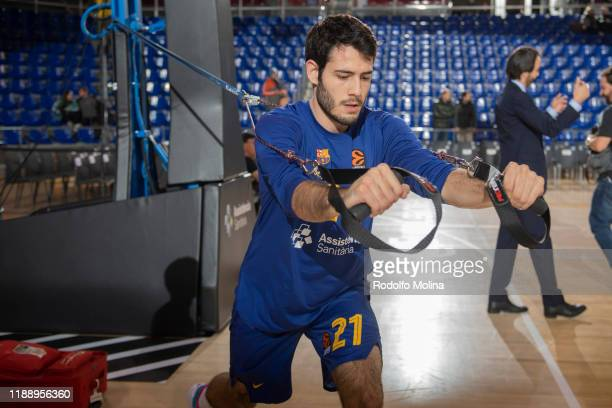 Alex Abrines, #21 of FC Barcelona warm up prior the 2019/2020 Turkish Airlines EuroLeague Regular Season Round 9 match between FC Barcelona and...