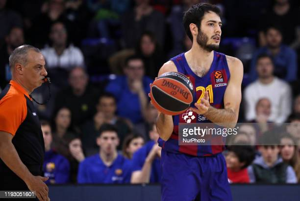 Alex Abrines during the match between FC Barcelona and Anadolu Efes S.K., corresponding to the week 18 of the Euroleague, played at the Palau...