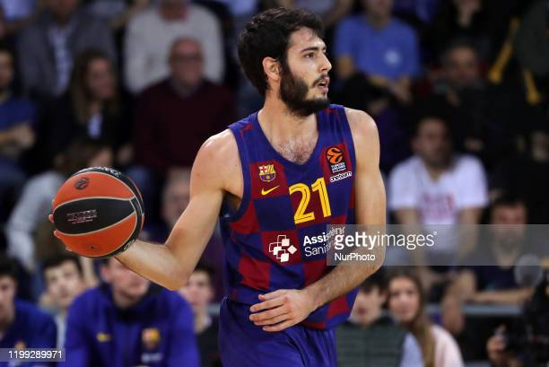 Alex Abrines during the match between FC Barcelona and AX Armani Exchange Olimpia Milano, corresponding to the week 24 of the Eurleague, played at...
