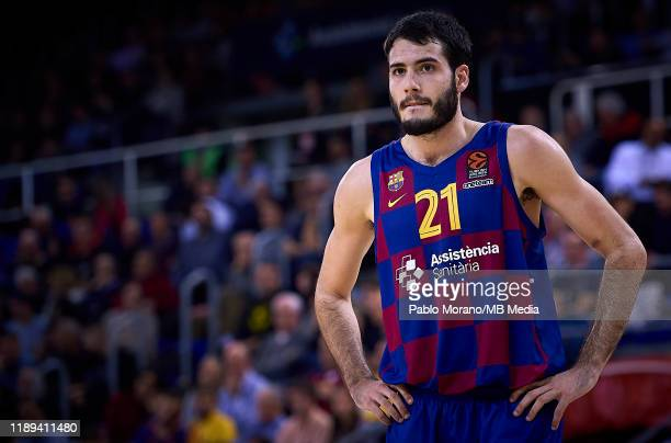 Alex Abrines of Barcelona looks on during the 2019/2020 Turkish Airlines EuroLeague Regular Season Round 14 match between FC Barcelona and LDLC Asvel...