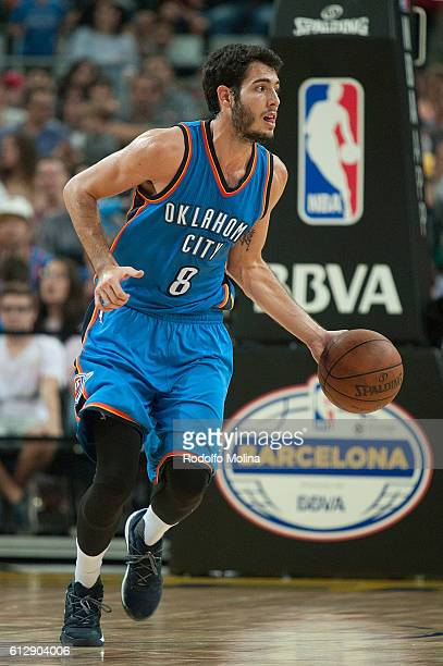 Alex Abrines of the Oklahoma City Thunder in action during the NBA Global Games Spain 2016 FC Barcelona Lassa v Oklahoma City Thunder at Palau Sant...
