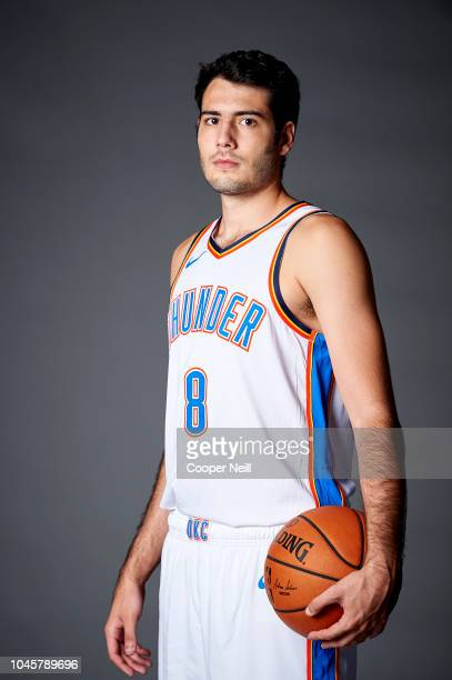 Alex Abrines of the Oklahoma City Thunder poses for a photo during media day at the Chesapeake Energy Arena on September 24, 2018 in Oklahoma City,...