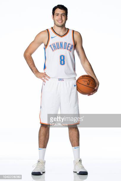 Alex Abrines of the Oklahoma City Thunder poses for a portrait during media day at Chesapeake Energy Arena in Oklahoma City, Oklahoma on September...
