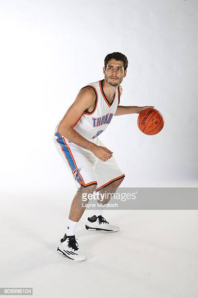 Alex Abrines of the Oklahoma City Thunder poses for a portrait during 2016 NBA Media Day on September 23 2016 at the Chesapeake Energy Arena in...