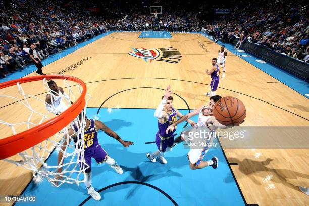 Alex Abrines of the Oklahoma City Thunder shoots the ball against the Utah Jazz on December 10, 2018 at Chesapeake Energy Arena in Oklahoma City,...