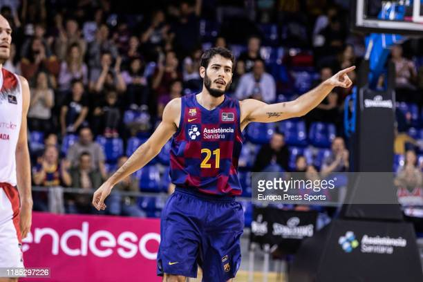 Alex Abrines, player of Fc Barcelona, in action Spanish basketball league, Liga Endesa, match played between FC Barcelona and Montakit Fuenlabrada at...