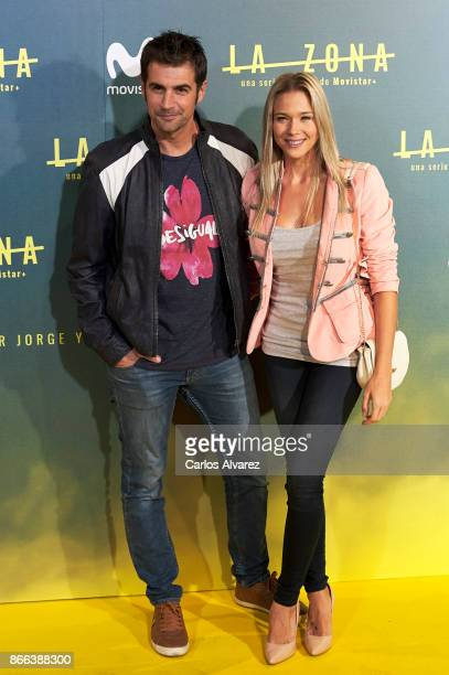 Alex Adrover and Patricia Montero attend 'La Zona' premiere at the Capitol cinema on October 25 2017 in Madrid Spain