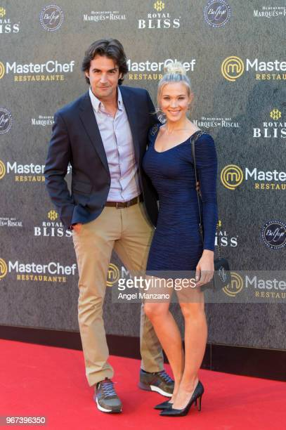 Alex Adrover and Patricia Montero attend 'Masterchef' Restaurant Opening on June 4 2018 in Madrid Spain