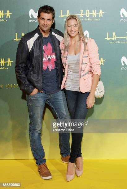 Alex Adrover and Patricia Montero attend the 'La Zona' premiere at Capitol cinema on October 25 2017 in Madrid Spain