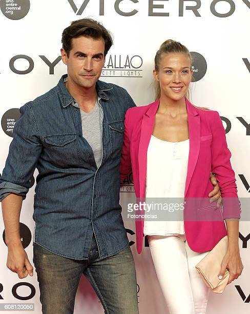 Alex Adrover and Patricia Montero attend the 'Soy Uno Entre Cien Mil' premiere at Callao cinema on September 19 2016 in Madrid Spain