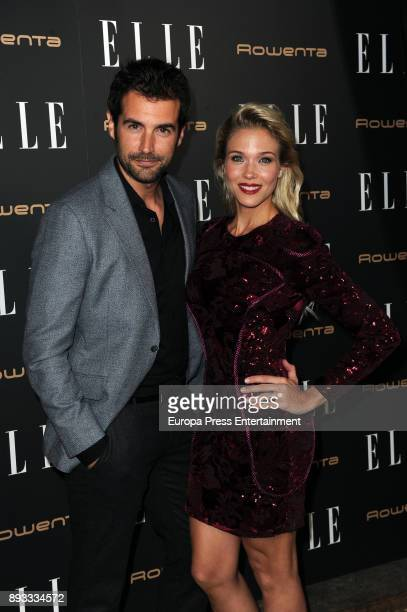 Alex Adrover and Patricia Montero attends Elle Christmas Party on December 13 2017 in Madrid Spain