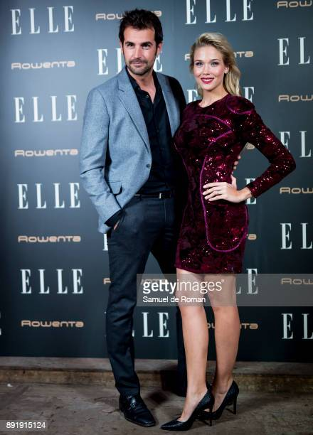 Alex Adrover and Patricia Montero during Elle Christmas Party in Madrid on December 13 2017 in Madrid Spain