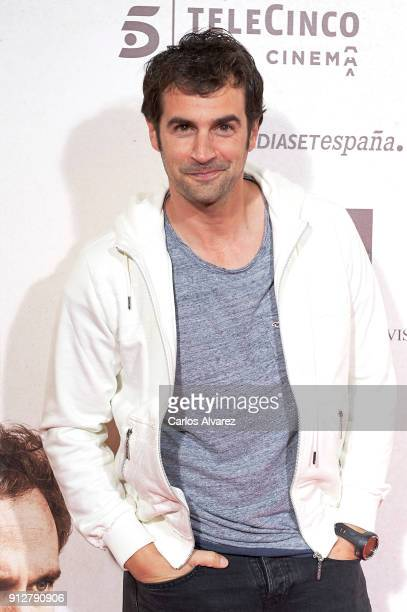 Alex Adrover attends 'El Cuaderno De Sara' premiere at the Capitol cinema on January 31 2018 in Madrid Spain