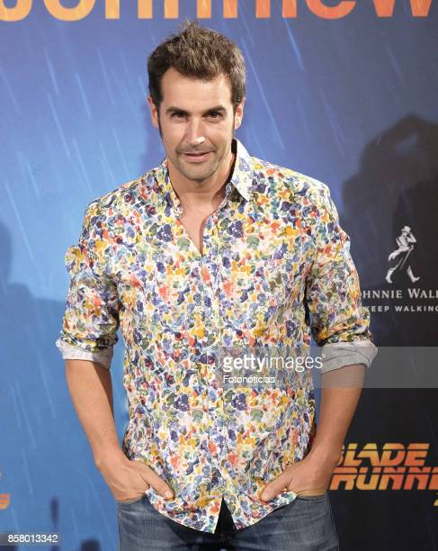 Alex Adrover attends the 'Blade Runner 2049' premiere at the Callao City Lights cinema on October 5 2017 in Madrid Spain