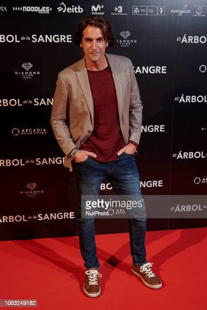 Alex Adrover attends the 'El arbol de la sangre' movie photocall at Capitol Cinema in Madrid on October 24 2018