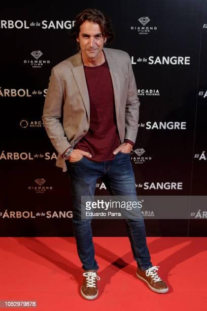 Alex Adrover attends the 'El arbol de la sangre' photocall at Capitol cinema on October 24 2018 in Madrid Spain