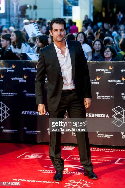 Alex Adrover attends the red carpet of the Gala Inaguration during the 20th Malaga Spanish Film Festival at the Cervantes Theater on March 17 2017 in...