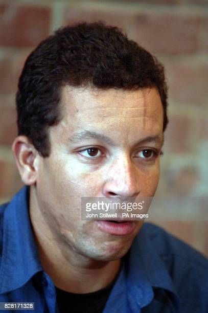 Alex Alves Pereira the cousin of Jean Charles De Menezes who was shot dead by Police at Stockwell station in July during a press conference in London...