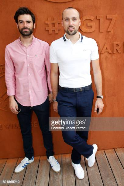 Alex and Paul from Synapson band attend the 2017 French Tennis Open Day Six at Roland Garros at Roland Garros on June 2 2017 in Paris France