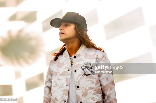 Alex Andre of DVBBS performing during Day 7 of the 50th Festival D'ete De Quebec on the Main Stage at the Plaines D' Abraham on July 12 2017 in...