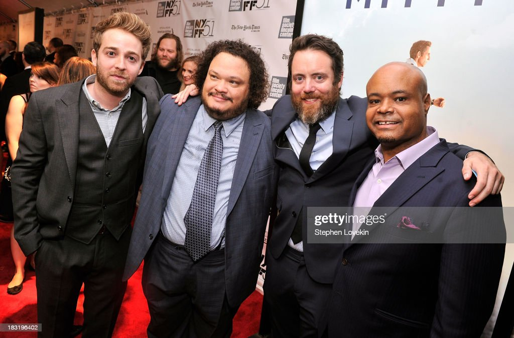 Alex Anfanger, Adrian Martinez, Jonathan C. Daly and Terence Bernie Hines attend the Centerpiece Gala Presentation Of 'The Secret Life Of Walter Mitty' during the 51st New York Film Festival at Alice Tully Hall at Lincoln Center on October 5, 2013 in New York City.