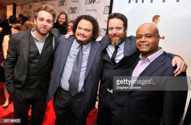 Alex Anfanger Adrian Martinez Jonathan C Daly and Terence Bernie Hines attend the Centerpiece Gala Presentation Of The Secret Life Of Walter Mitty...