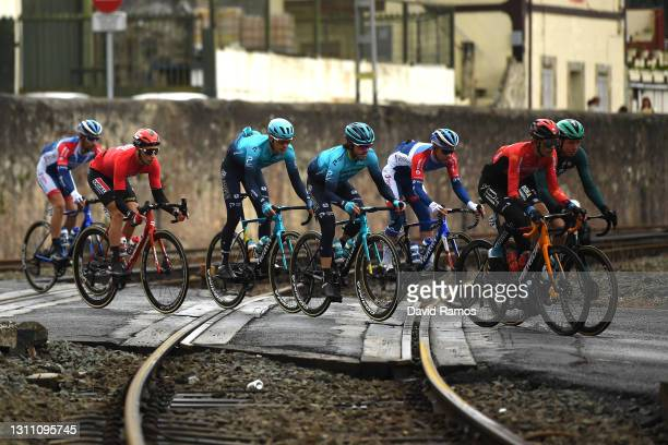 Alex Aranburu Deba of Spain, Ion Izagirre Insausti of Spain and and Team Astana - Premier Tech & The Peloton during the 60th Itzulia-Vuelta Ciclista...