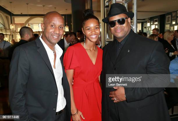 Alex Avant Kennedy Stephens and Jimmy Jam attend the Sugar Ray Leonard Foundation 9th Annual Big Fighters Big Cause Charity Boxing Night presented by...