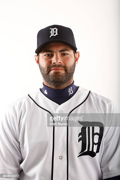 Alex Avila of the Detroit Tigers poses for a photo during the Tigers' photo day on February 28 2015 at Joker Marchant Stadium in Lakeland Florida