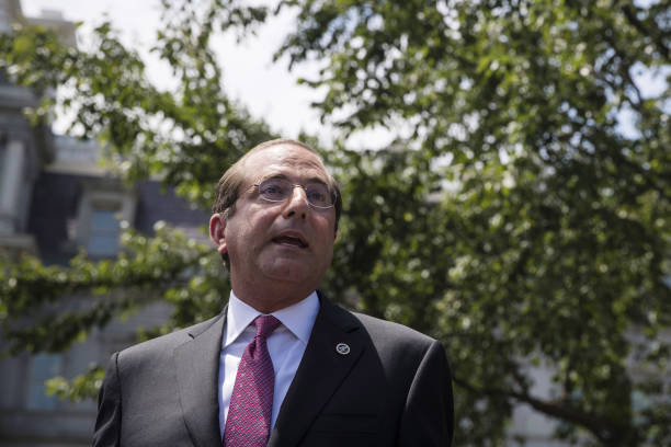 DC: Health And Human Services Secretary Alex Azar Holds Press Conference