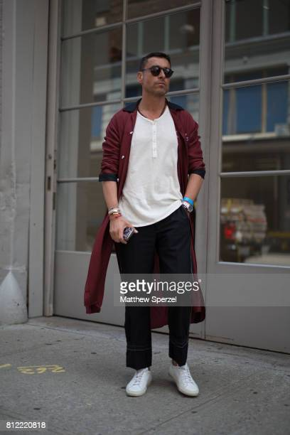 Alex Badia is seen attending TEDDY ONDO ELLA during Men's New York Fashion Week wearing Burberry Maison Margiela and eyewear by Smoke x Mirrors on...