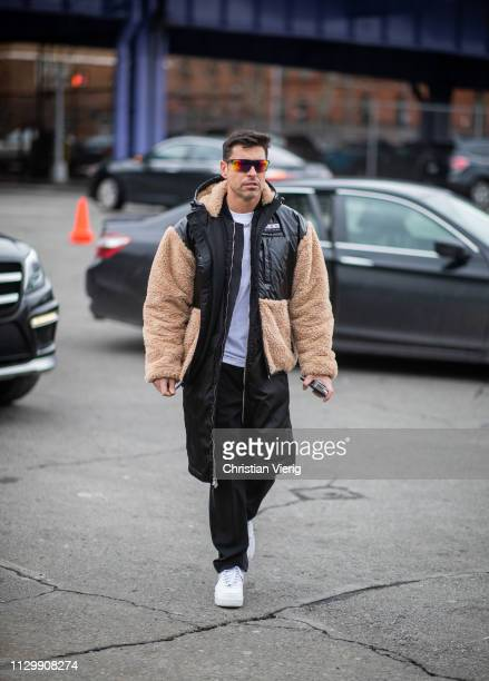 Alex Badia is seen outside Boss during New York Fashion Week Autumn Winter 2019 on February 13 2019 in New York City