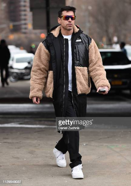 Alex Badia is seen outside the Boss show during New York Fashion Week Fall/Winter 2019 on February 13 2019 in New York City